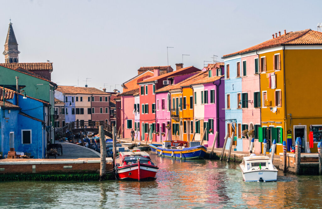 Burano, Italy as seen from the water