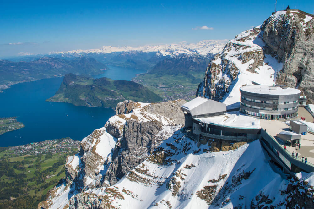 The stunning views from on top Mount Pilatus