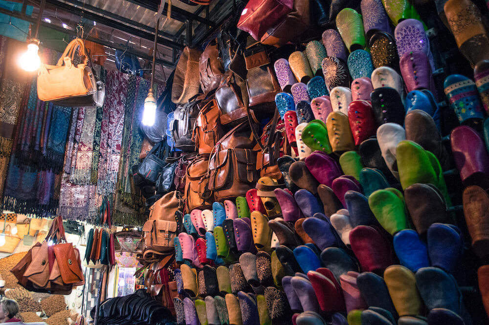 Market stall in Marrakech, Morocco