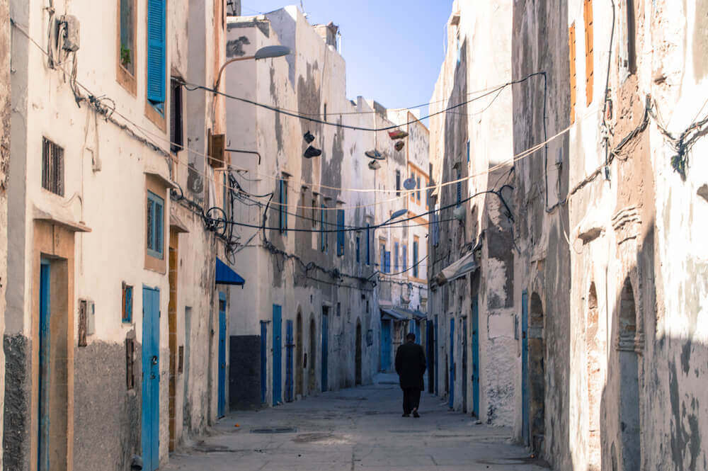 Back alley in Essaouira, Morocco