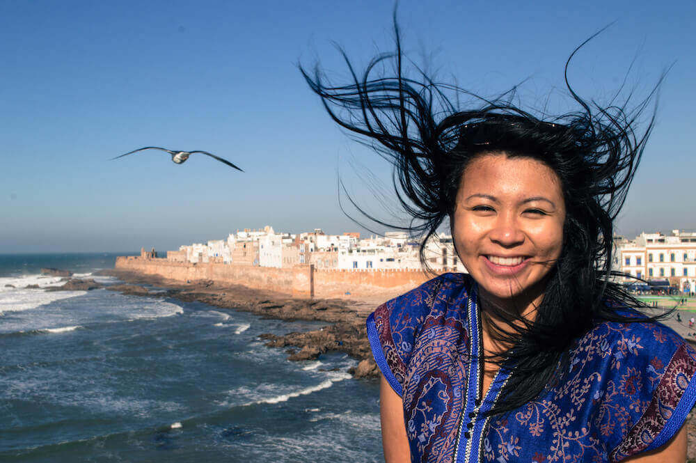 Christina Guan in Essaouira