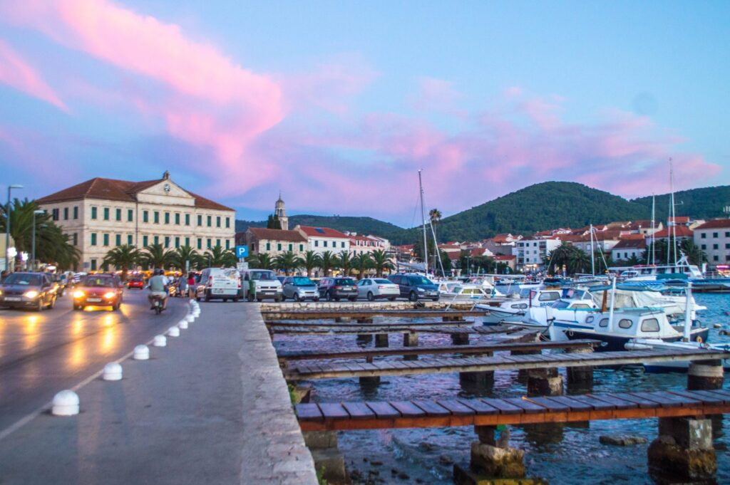 Glorious sunset in Vela Luka