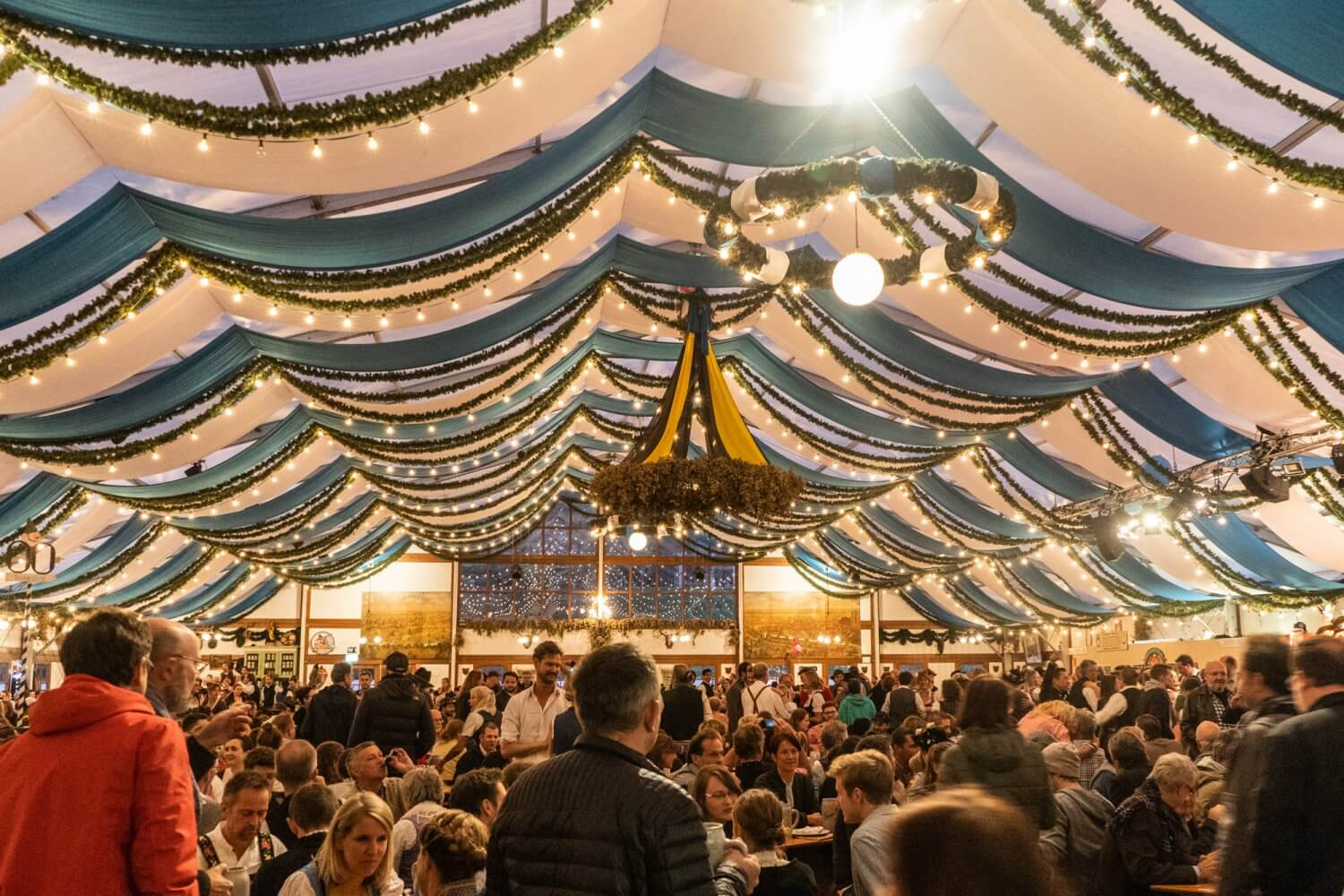 Herzkaspertzelt tent at Oktoberfest in Munich, Germany