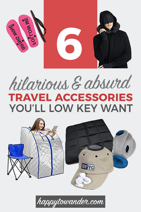 These hilarious travel accessories are both unnecessary and absurd... but that won't stop you from wanting them. Check out this insane roundup of hilarious travel accessories you'll low-key want. #travel #packing