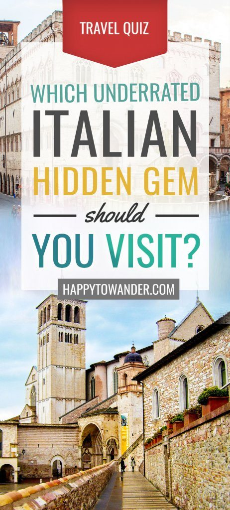 Which Italian hidden gem is your travel destiny? Take this quiz to find out! #Travel #Quiz #Europe