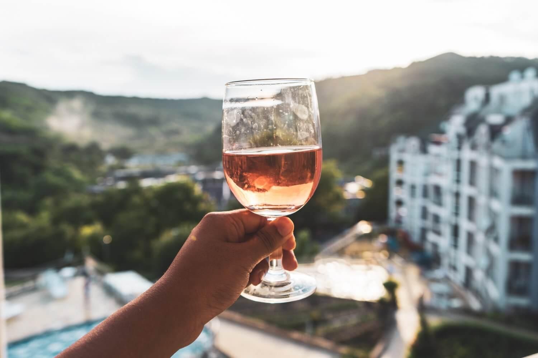 Wine glass in Bulgaria