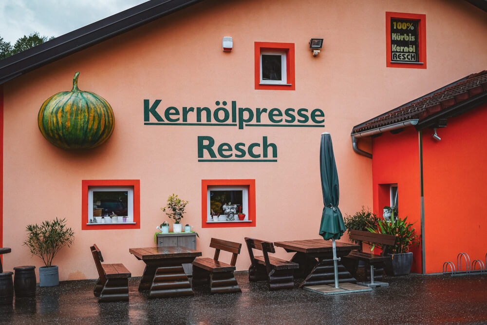 Pumpkin oil press Resch in South Styria, Austria