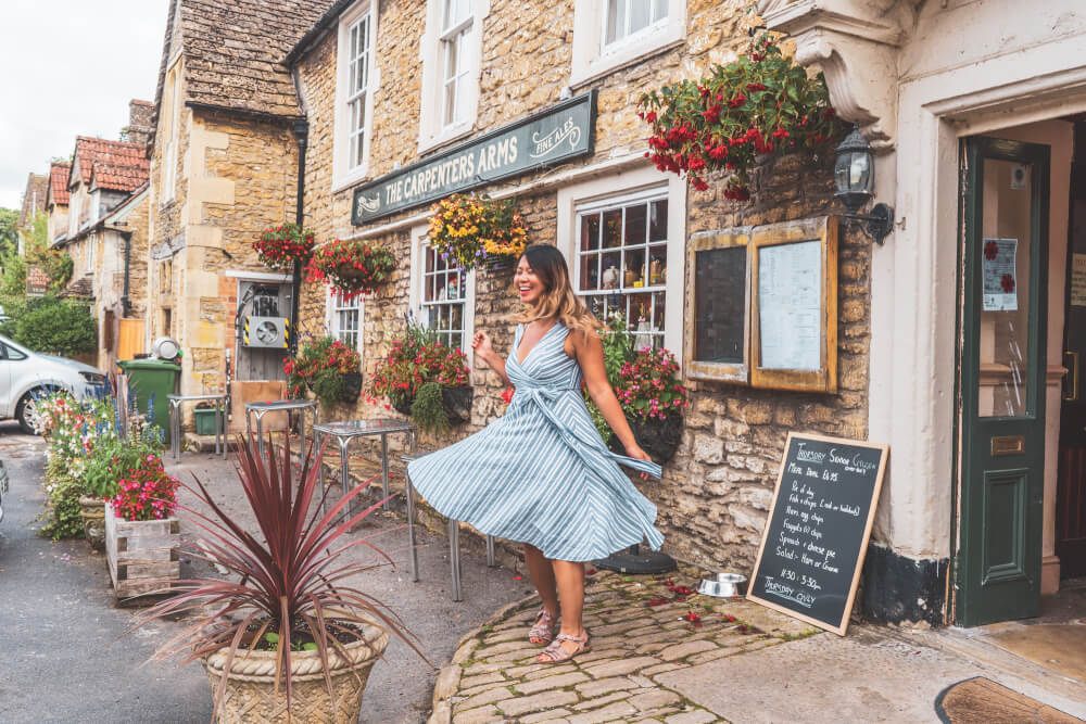 Christina Guan in Lacock, England