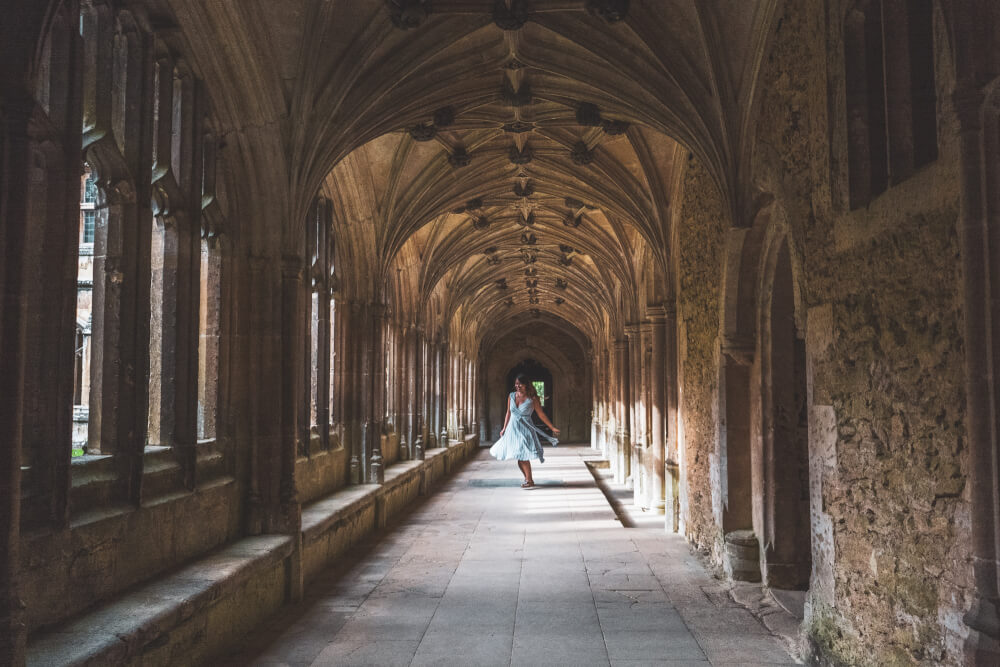 Hogwarts corridor at Lacock Abbey in Lacock, England
