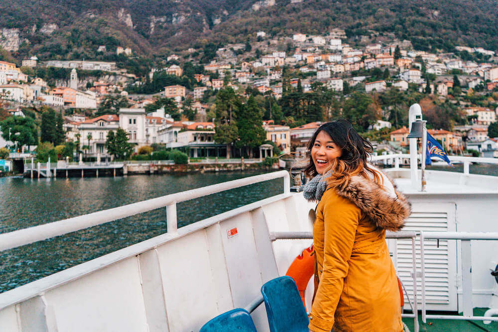 Lake Como boat ride