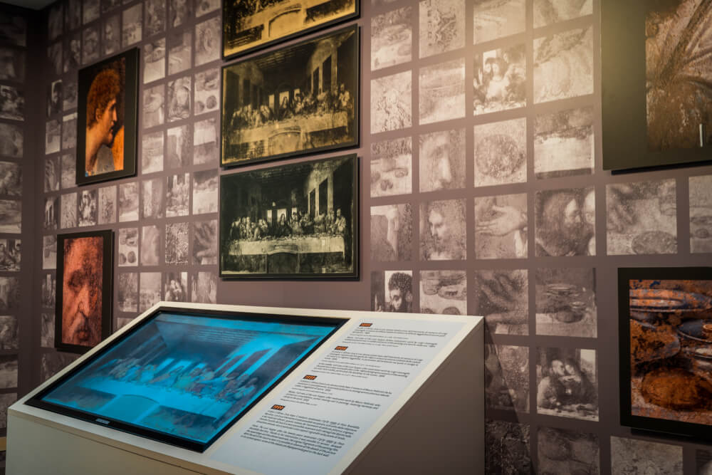 Interactive displays at the Last Supper in Milan