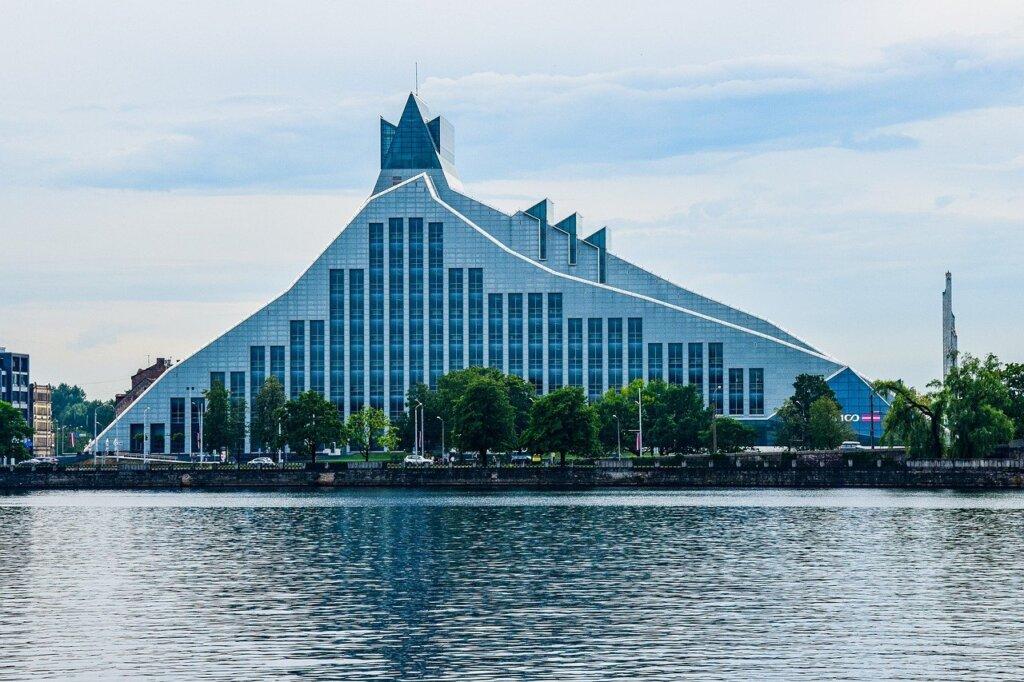 National library of Latvia in Riga