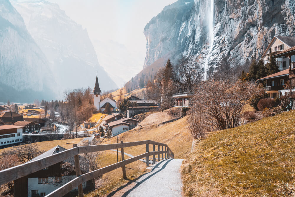 Fairytale Lauterbrunnen, just a short train away from Interlaken!