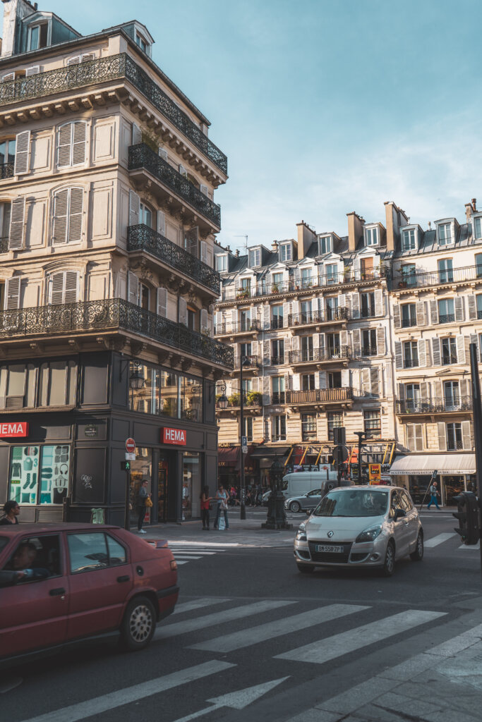 Typical Parisian street