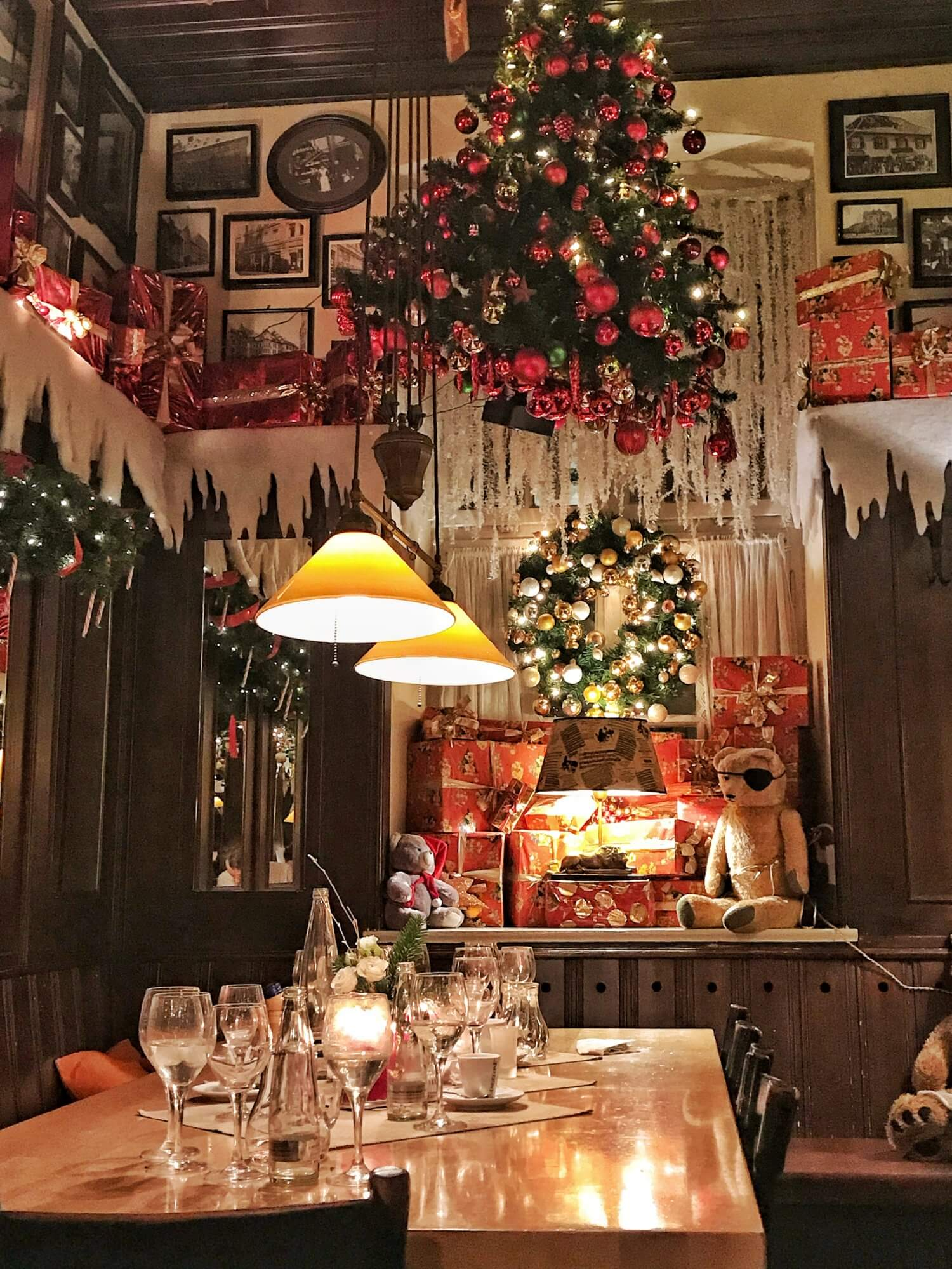 Liebighof restaurant at Christmas time