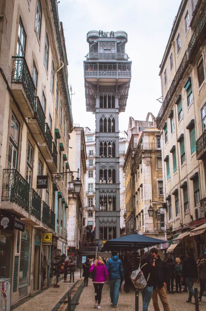 Santa Justa Lift, one of the most famous sights to see when you visit Lisbon