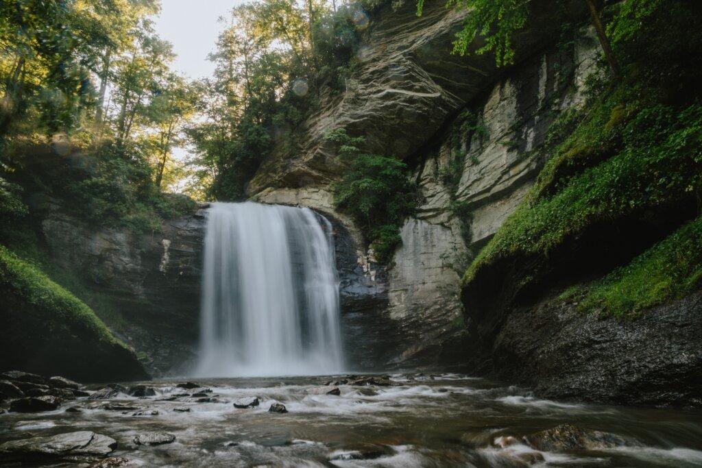 Looking Glass Falls in North Carolina