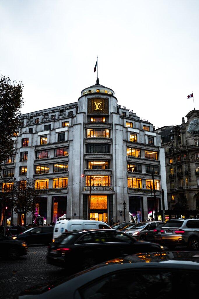 Large Louis Vuitton store in Paris