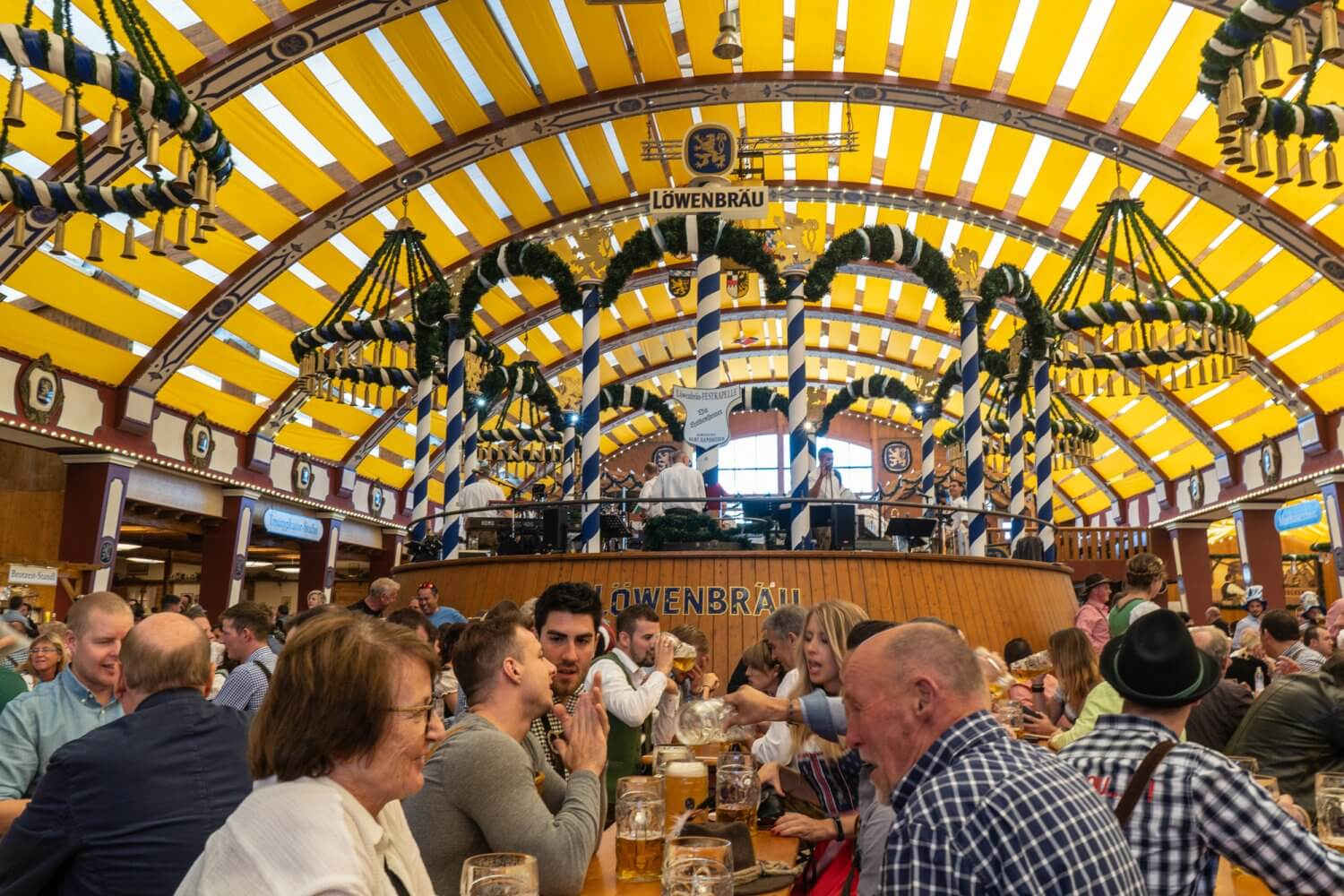 Löwenbräu-Festhalle at Oktoberfest in Munich, Germany