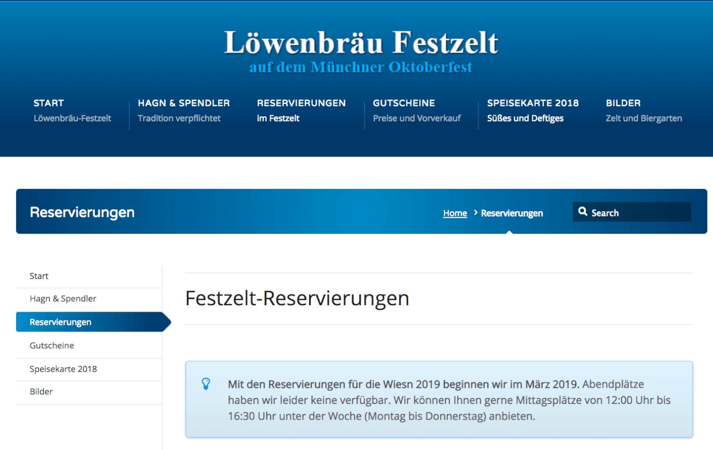 Löwenbräu-Festhalle reservation system