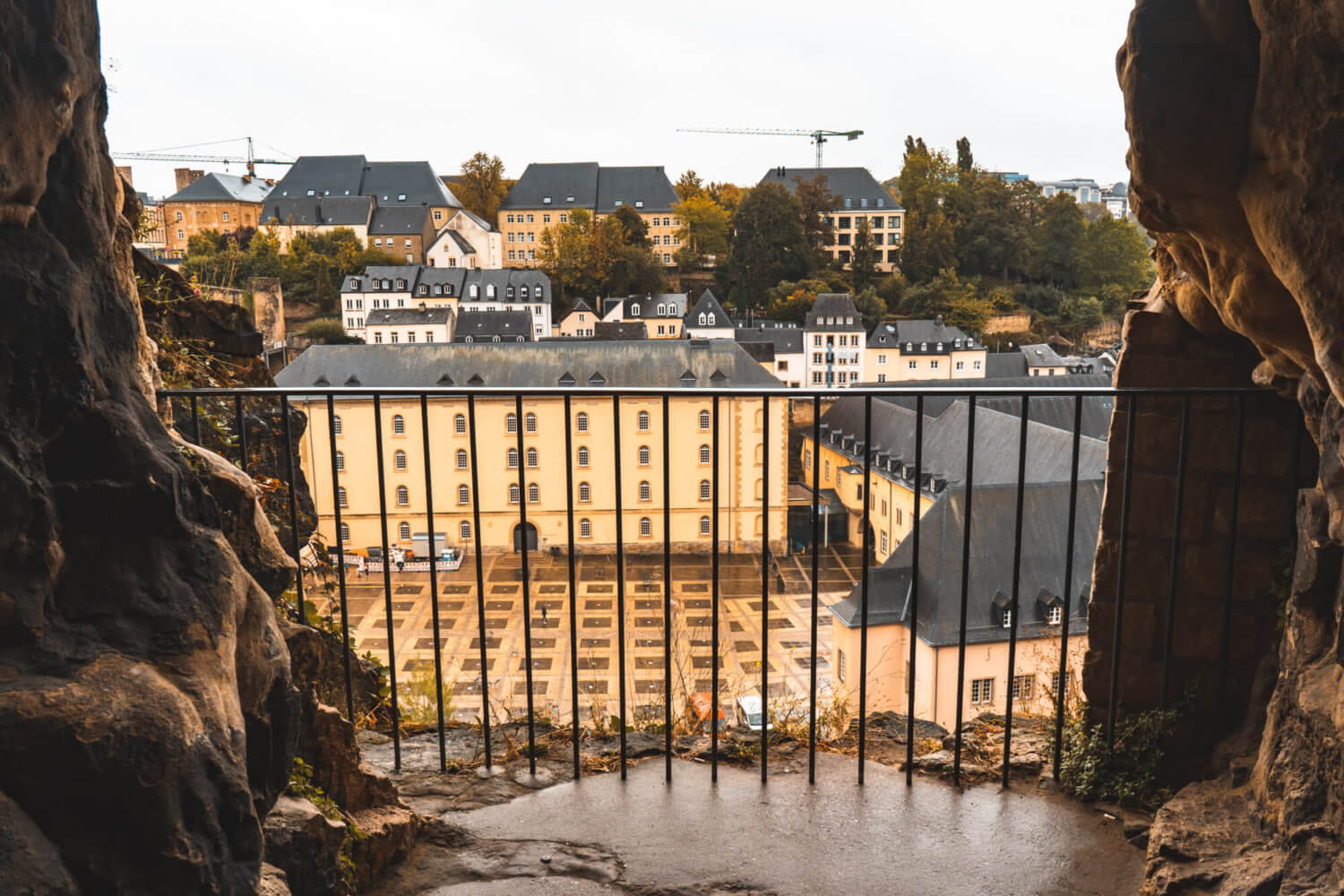View from Casemates du Bock in Luxembourg City