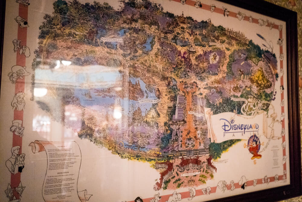 1995 Disneyland Paris map at the Storybook Boutique at Disneyland Paris