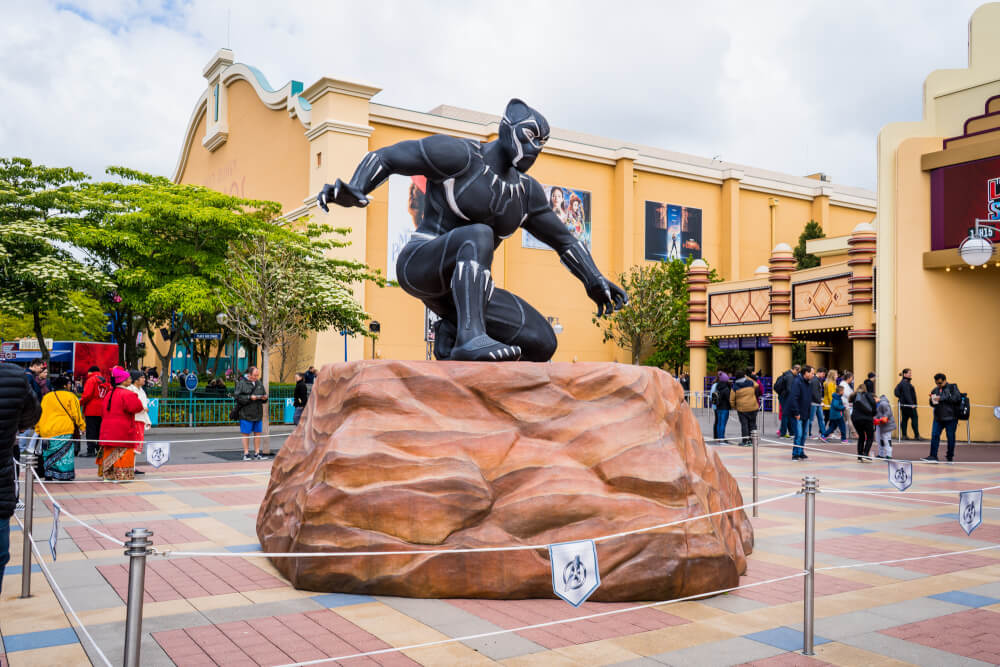 Colossal Black Panther at the Marvel Season of Heroes in Disneyland Paris