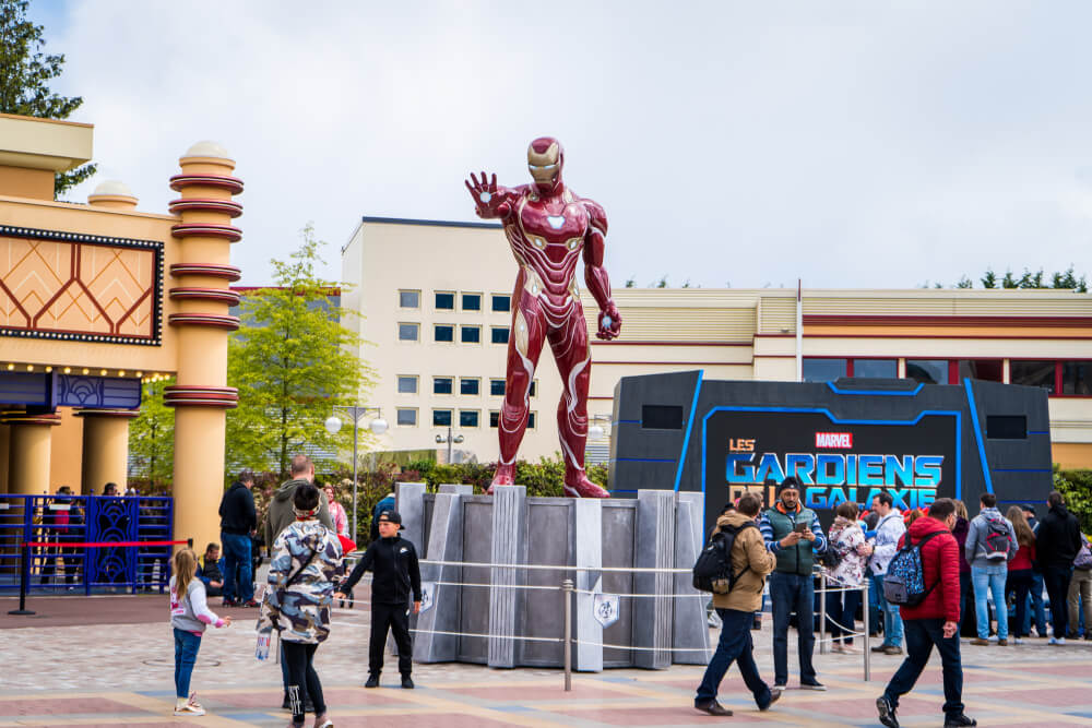 Colossal Ironman at the Marvel Season of Heroes in Disneyland Paris