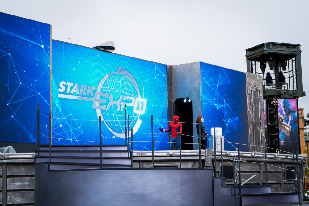 Stark Expo Show at Marvel Season of Heroes at Disneyland Paris