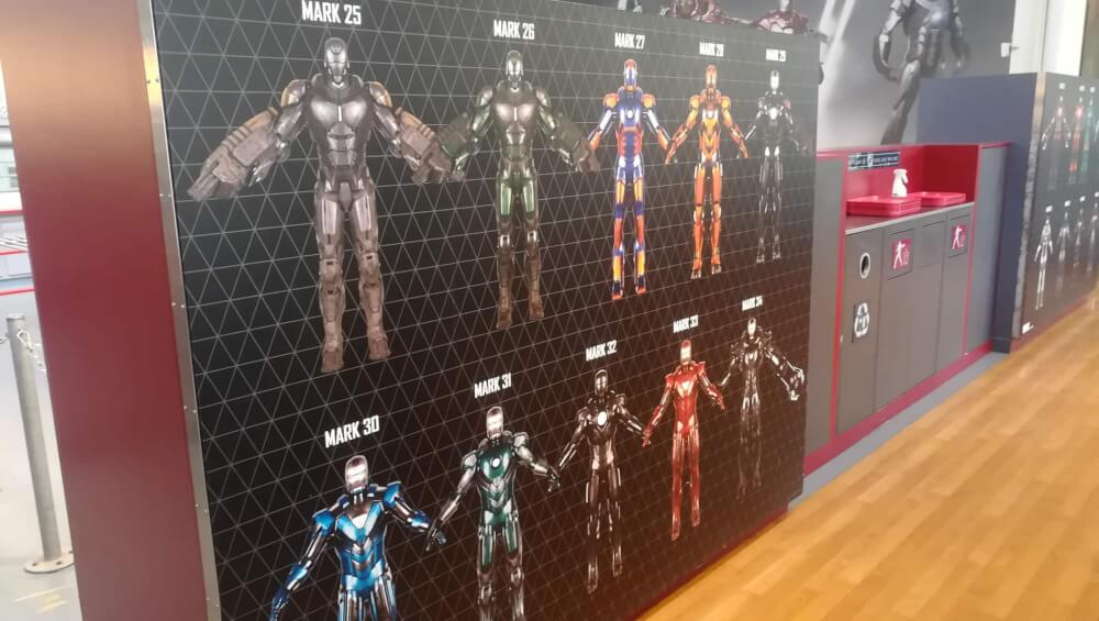 Ironman suits at Marvel Season of Heroes in Disneyland Paris