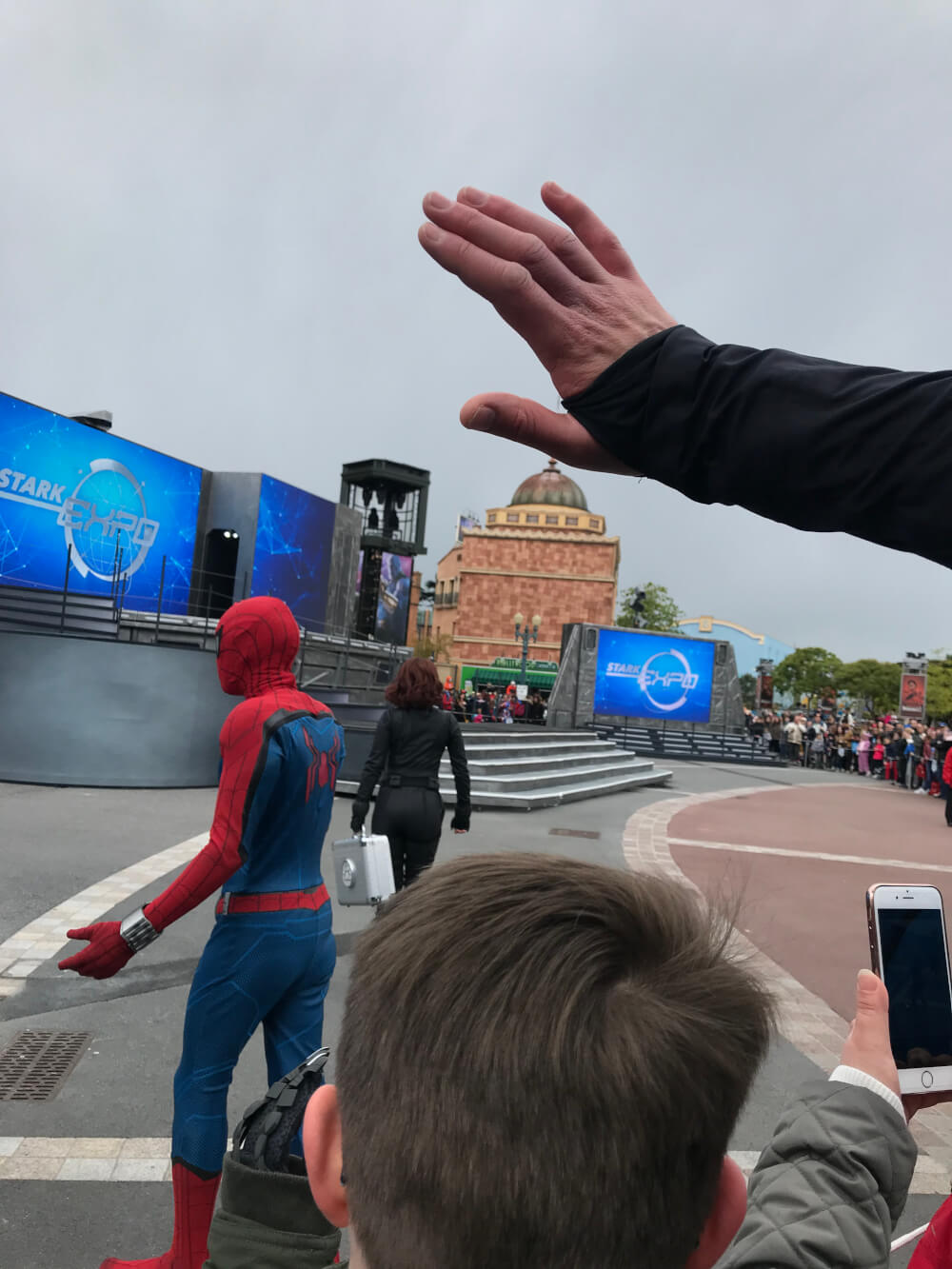 Spiderman at the Marvel Season of Heroes at Disneyland Paris