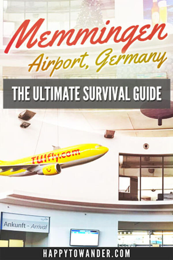 Memmingen Airport is a budget airport found in Bavaria. While it offers super cheap fares, you definitely need expert tips to survive it! Here's a thorough guide featuring all sorts of important information, from how to get to the airport, the food options, how long wait times are and more. #munich #airport #travel