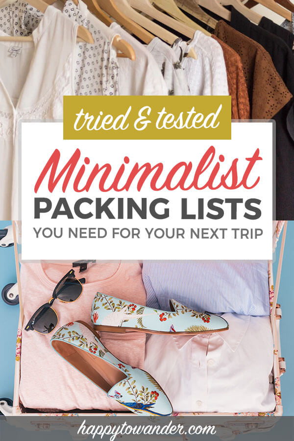Say bye to overweight fees and heavy bags with these amazing tried and tested minimalist packing lists for summer and winter travel! If you want an easy guide to packing light, but still looking good, this one's for you. Includes a rundown of key essentials and how to make them more versatile. #travel #packing #minimalism