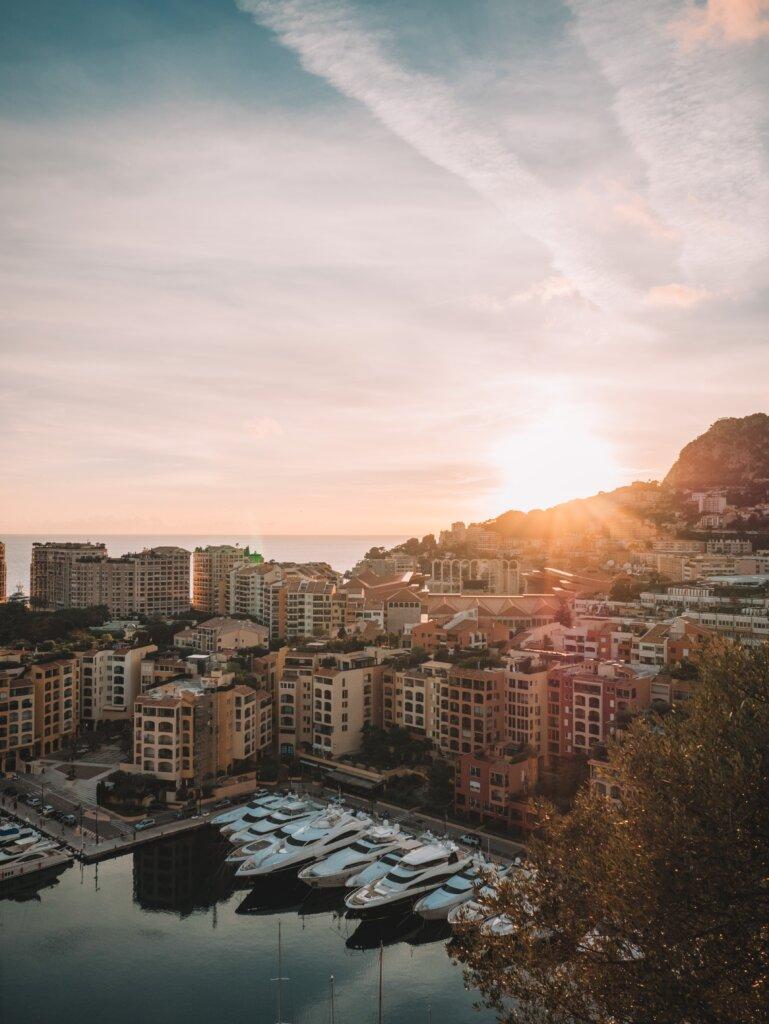 Monaco view at sunset