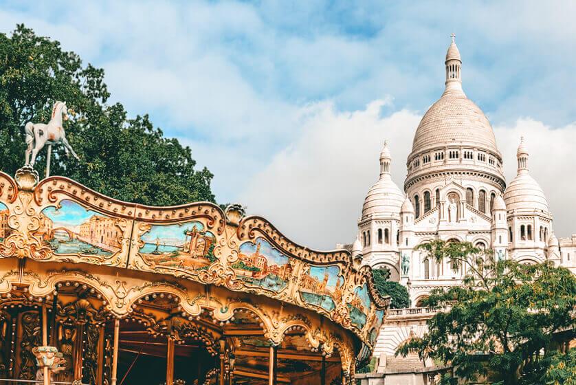 Montmartre Carousel in Montmartre, Paris