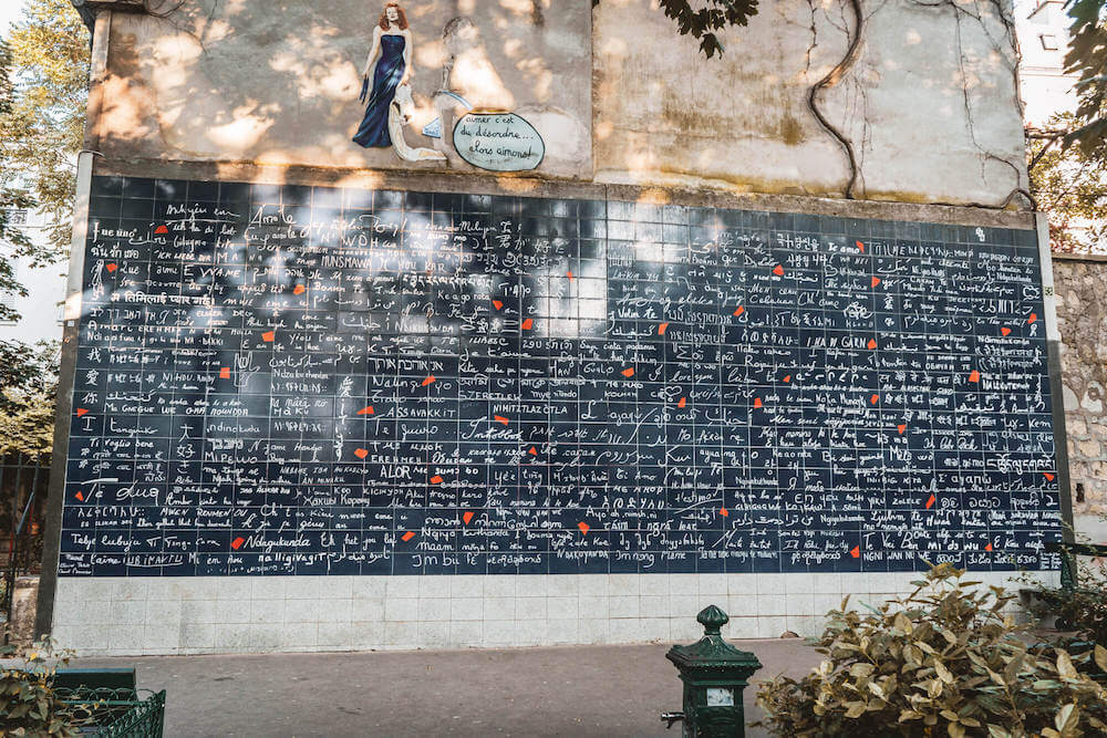 Wall of I Love You in Montmartre, Paris