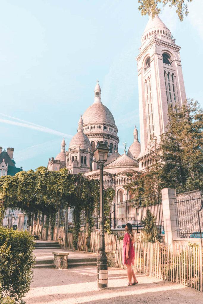 Sacré-Coeur Basilica from Square Marcel-Bleustein-Blanchet