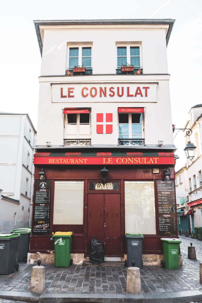Parisian cafe Le Consulat in Montmartre