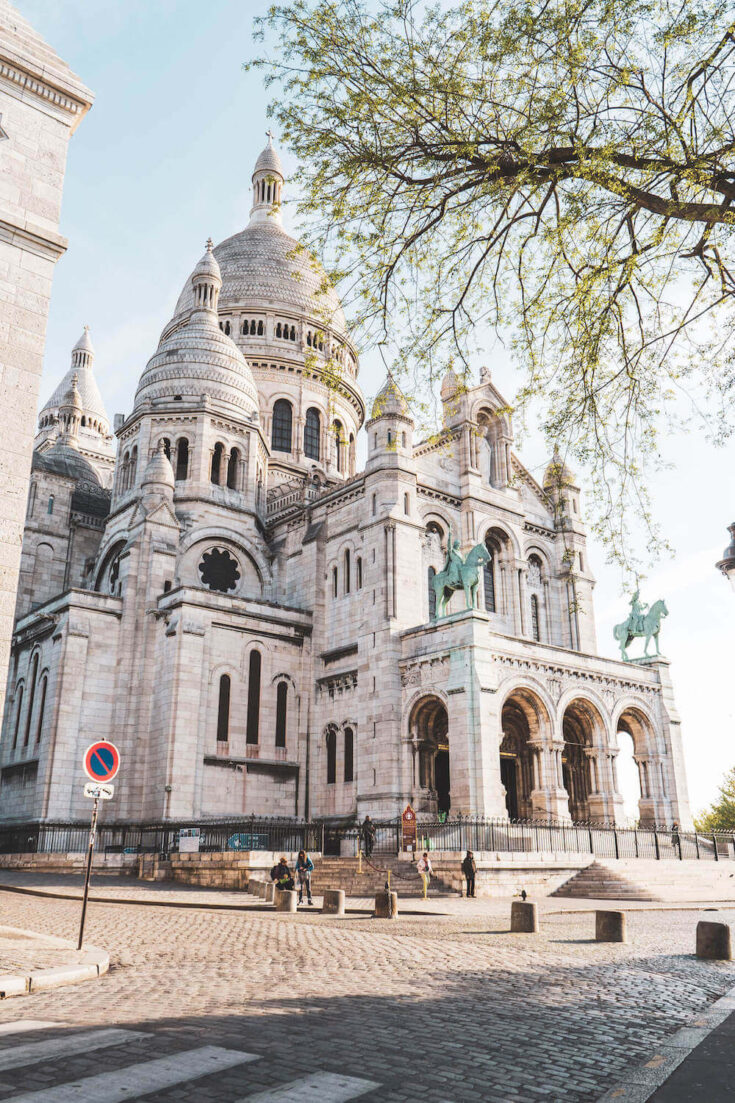 Sacré-Coeur Basilica in Montmartre, Paris as seen from the back