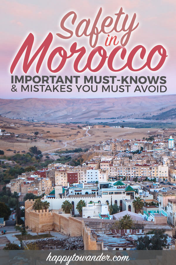 Helpful and comprehensive Morocco travel guide including tips on Morocco safety, how to stay safe in Morocco, solo travel in Morocco, food safety in Morocco, what to eat in Morocco and how to explore Morocco cities like Fes, Marrakech, Chefchaouen and Essaouira safely. #travel #morocco