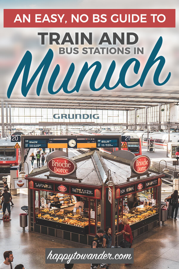 Confused about the different train and bus stations in Munich, Germany? This article is a must-read for your next Munich trip, featuring valuable tips on how to navigate the city's many stations. #Munich #Germany via @happytowander