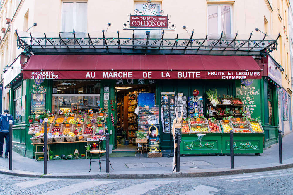 Amelie grocery store in Montmartre, Paris