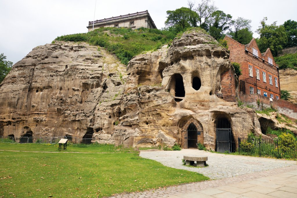 Rocky ruins in Nottingham, England.