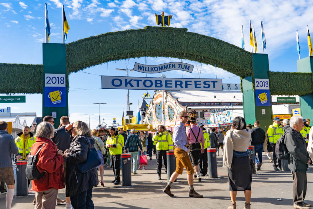 The main Oktoberfest entrance by Theresienwiese in Munich, Germany