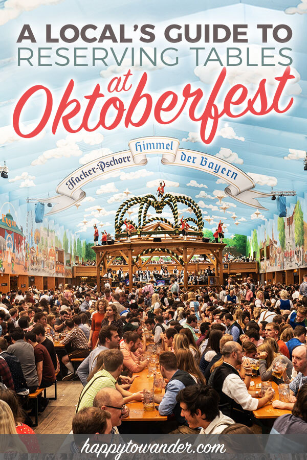 This guide shows you show to get a table reservation at Oktoberfest for FREE! If you want to visit Oktoberfest in Munich, Germany and need Oktoberfest tips and how to get a table at the most popular tents for free, read this! Includes important Oktoberfest information, insider tips on the tents and more. Save this for your next Germany trip, and for when you travel to Munich. #munich #oktoberfest #travel