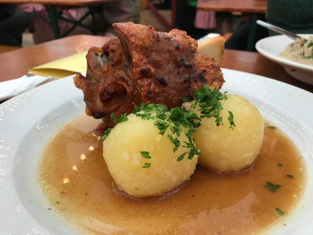 Roasted pork knuckle at Oktoberfest