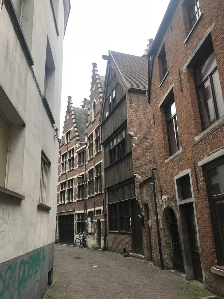 500 year old wooden house in Antwerp, Belgium
