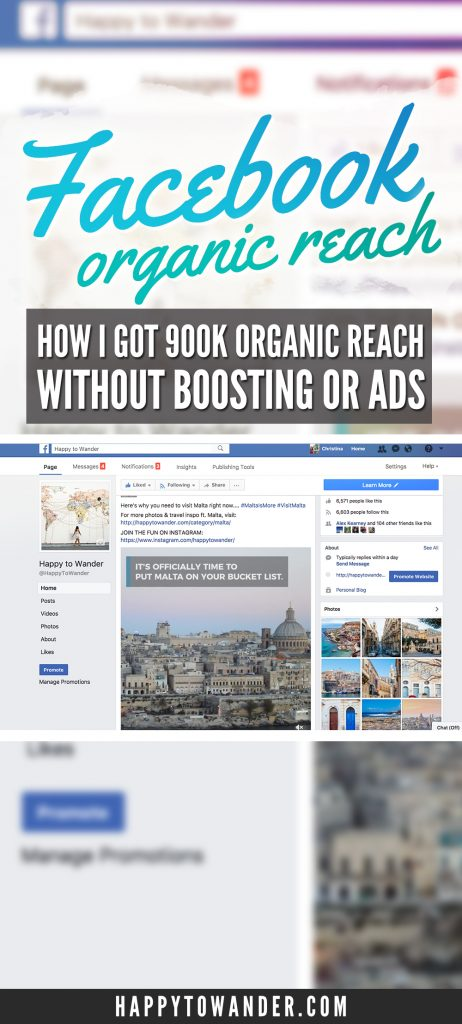 How to increase Facebook organic reach and drive epic amounts of traffic to your blog! This case study details how one blogger got a 900,000 organic reach on one post without spending any money on ads. Check it out!
