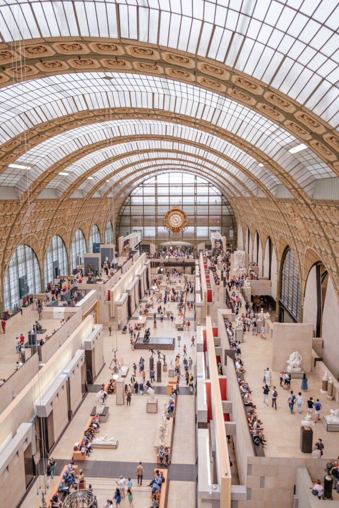 View of the Orsay museum in Paris