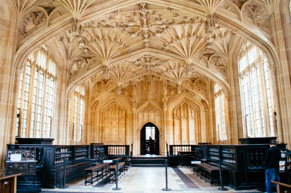 Oxford Divinity School in Oxford, England - set for the Hogwarts Infirmary